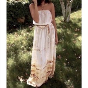 Gypsy 05 100% Silk Strapless Maxi Dress
